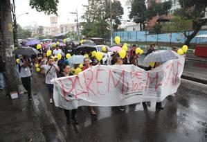 Manifestantes clamam por Justiça após morte de Ágatha Foto: Bruno Kaiuca / Agência O Globo