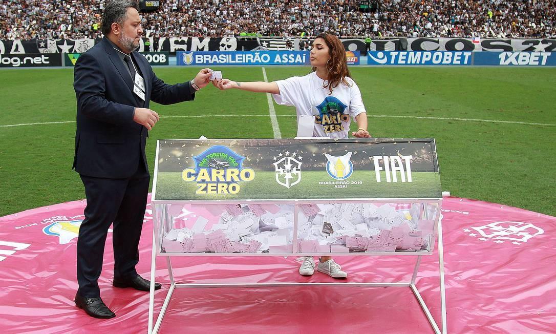 Sorteio de carro no jogo entre Botafogo e São Paulo deve ser anulado Foto: VITOR SILVA/BOTAFOGO / VITOR SILVA/BOTAFOGO