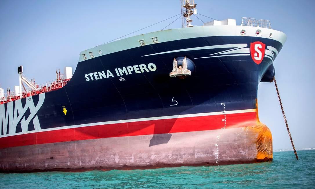 Navio britânico Stena Impero, confiscado pelo Irã Foto: Wana News Agency / VIA REUTERS / 22-08-2019