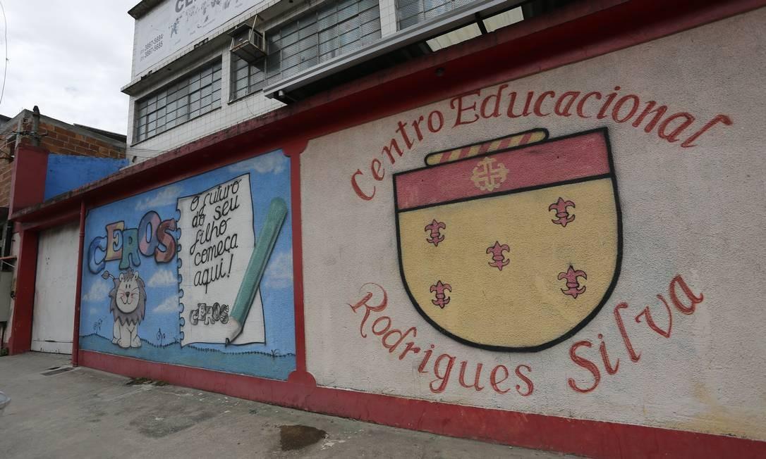 Centro Educacional Rodrigues Silva (Ceros), na Rua Doutor Noguchi 379, em Ramos Foto: Pablo Jacob / Agência O Globo