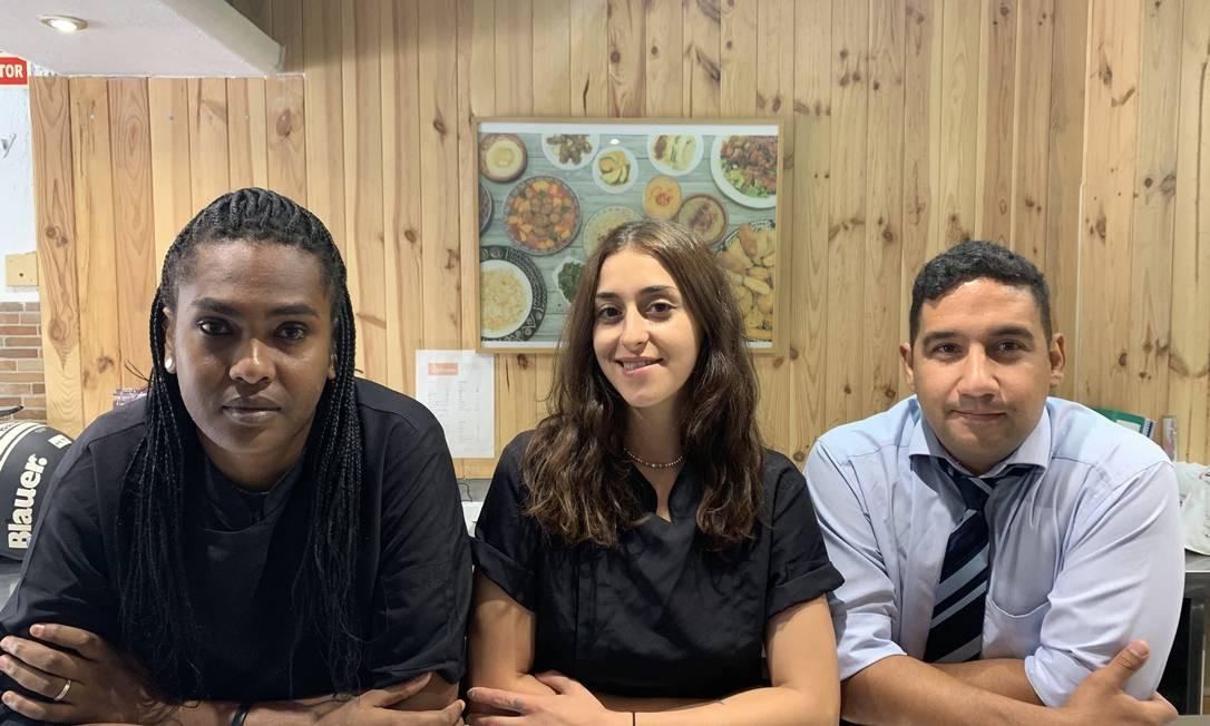 """Mohamed, Dondieh e Ariza ambicionam transformar o delivery em uma rede de restaurantes, com mais nacionalidades e, """"se precisar"""", estrelas Michelin Foto: Luís Lima / Agência O Globo"""