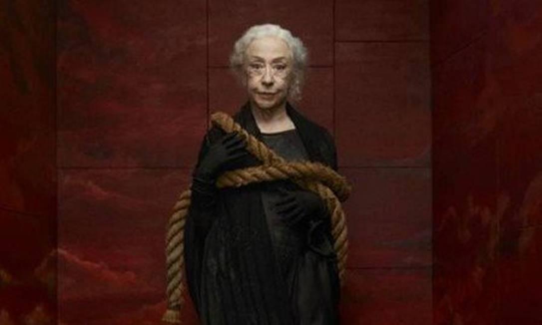 Fernanda Montenegro em poster que será encartado na revista '451' de outubro Foto: Divulgação/Mariana Maltoni