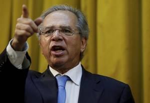 O ministro da Economia, Paulo Guedes. Foto: Marcelo Theobald / Agência O Globo