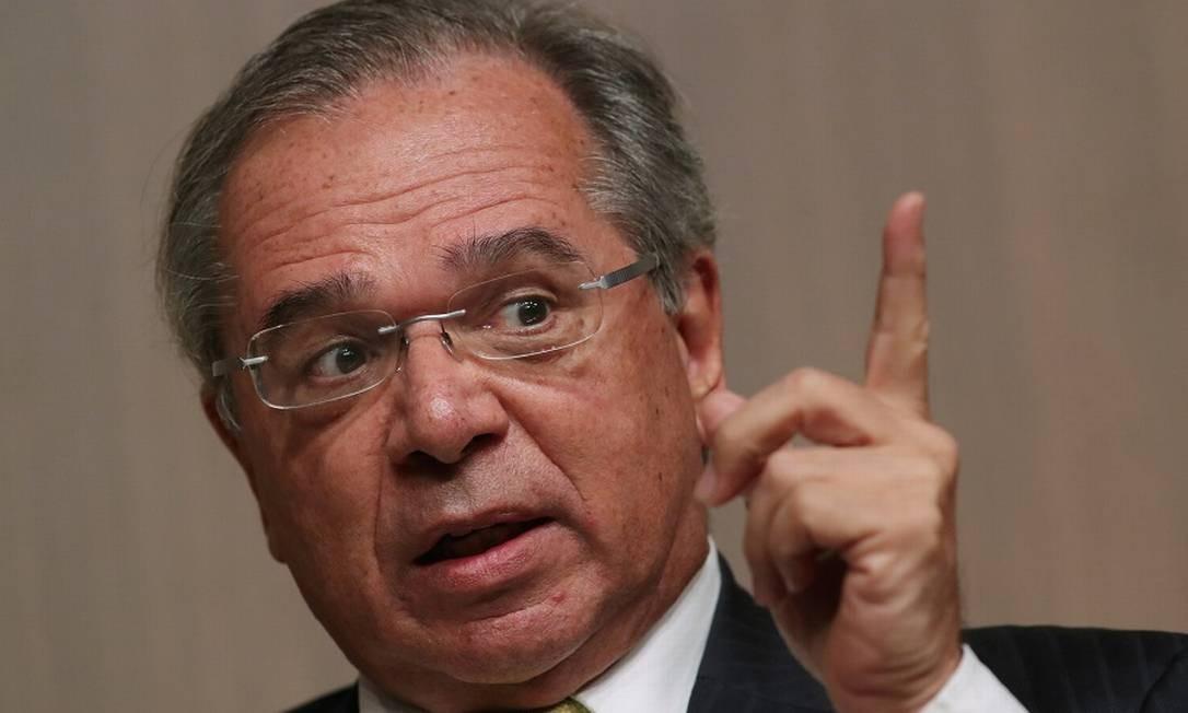Paulo Guedes voltou a falar em imposto sobre transações financeiras. Foto: Amanda Perobelli / Reuters