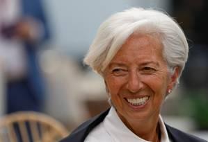 Christine Lagarde: guerra comercial é obstáculo. Foto: Carlos Jasso / REUTERS