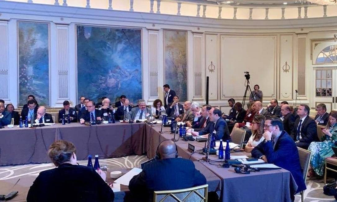 Reunião do Tiar em Nova York: Venezuela levou à ativação do tratado Foto: Reprodução do Twitter/OEA