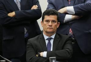 O ministro da Justiça e Segurança Pública, Sergio Moro Foto: Jorge William / Agência O Globo