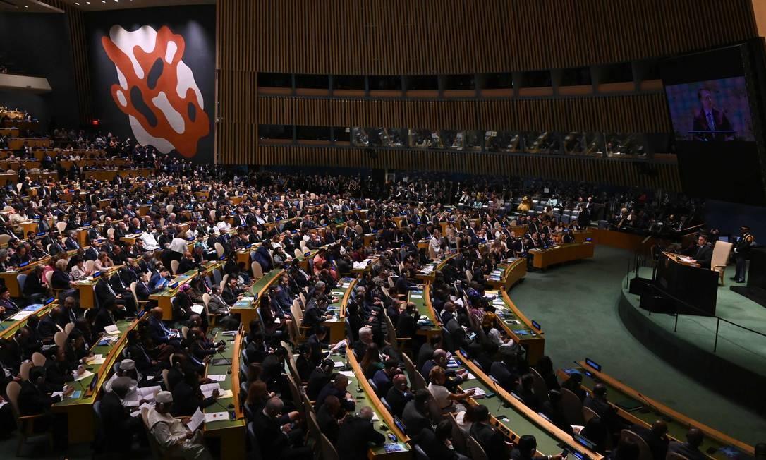 A Organização das Nações Unidas (ONU) hoje é formada por 193 países Foto: TIMOTHY A. CLARY / AFP