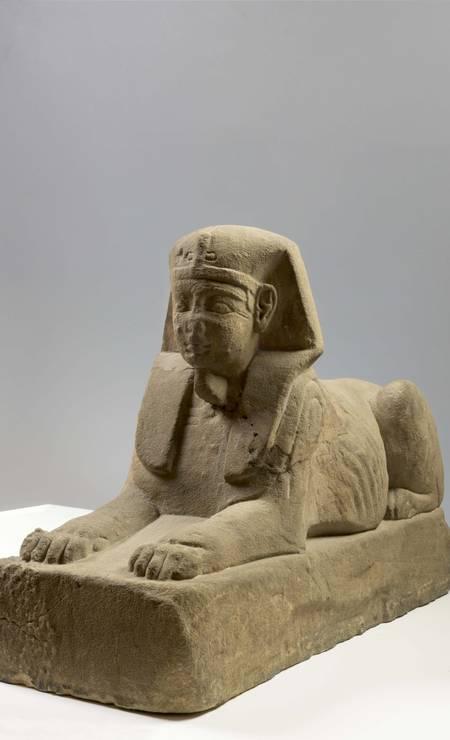 Estátua de esfinge: procedência desconhecida, Período Romano (30 a.C. – 395 d.C.) Foto: Divulgação/Museo Egizio
