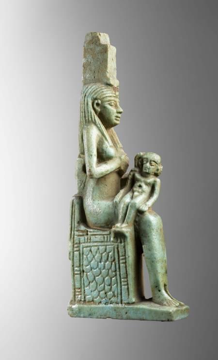 Amuleto da deusa Ísis Período Tardio (664-332 a.C.) Foto: Divulgação/Museo Egizio