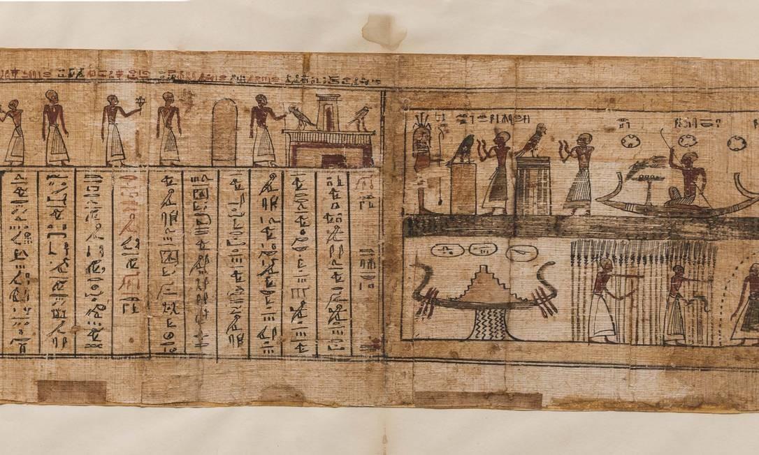 Livro dos Mortos em papiro e tinta, Período Greco-Romano (332 a.C.-395 d.C.) Foto: Divulgação/ Museo Egizio