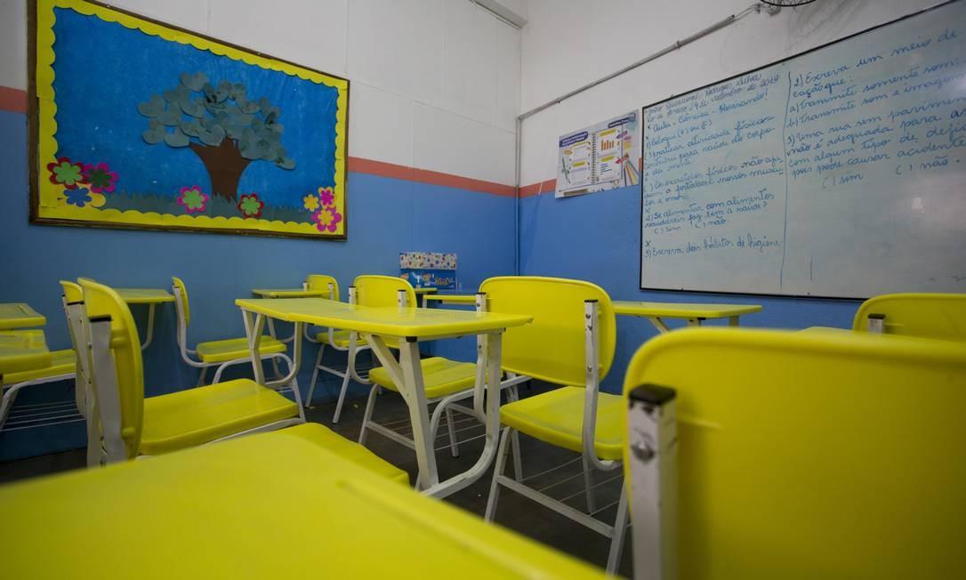 A sala de aula onde Ágatha estudava, em Ramos Foto: Márcia Foletto / Agência O Globo