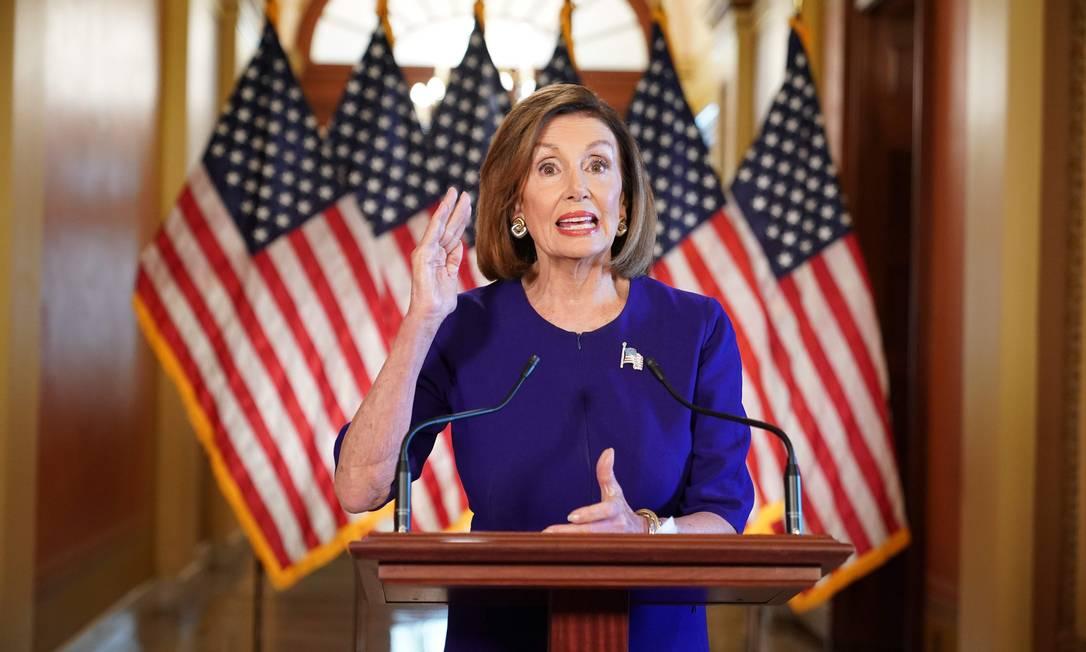 Nancy Pelosi anuncia abertura de inquérito formal para impeachment de Donald Trump Foto: MANDEL NGAN / AFP