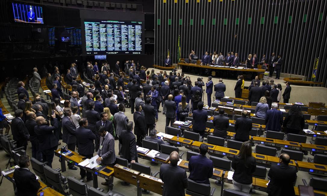 Sessão que analisou os vetos do presidente Jair Bolsonaro à Lei de Abuso de Autoridade Foto: Daniel Marenco / Agência O Globo