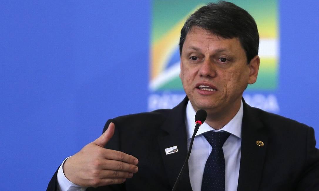 Tarcísio Freitas, ministro da Infraestrutura. Foto: Jorge William / Agência O Globo