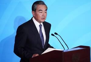 Wang Yi, ministro das Relações Exteriores da China Foto: Carlo Allegri / Reuters