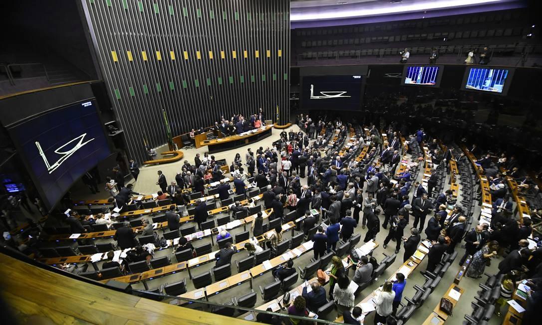 Plenário da Câmara dos Deputados durante sessão conjunta do Congresso Nacional Foto: Marcos Oliveira/Agência Senado