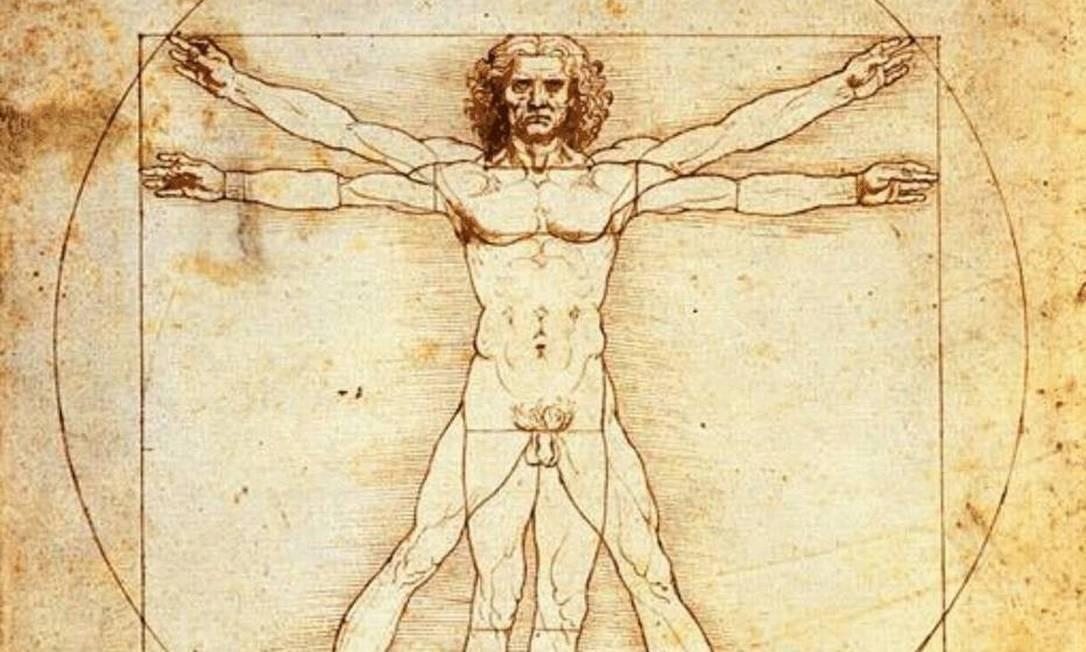 O Homem Vitruviano, de Leonardo Da Vinci Foto: Divulgação