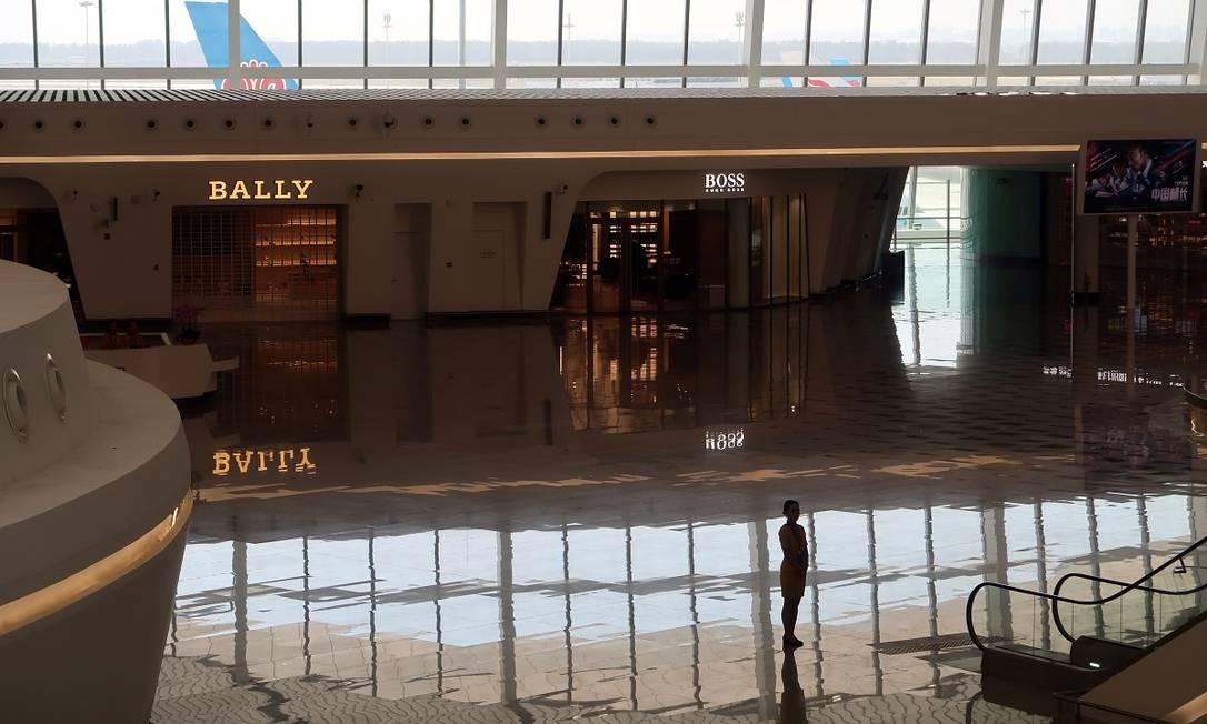 Usando o código PKX, Daxing é o segundo aeroporto internacional de Pequim. O outro, inaugurado em 1958, é atualmente o segundo mais movimentado do mundo, atrás apenas do terminal de Atlanta, nos Estados Unidos Foto: THOMAS SUEN / AFP
