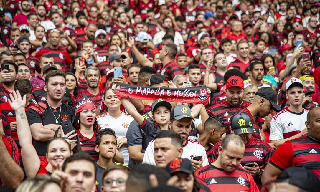 Torcedores do Flamengo que não são sócios ainda não compraram ingressos para semifinal Foto: Divulgação