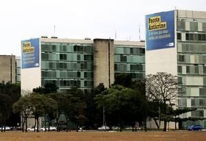 Propaganda do pacote anticrime que foi suspensa pelo TCU Foto: Jorge William / Agência O Globo