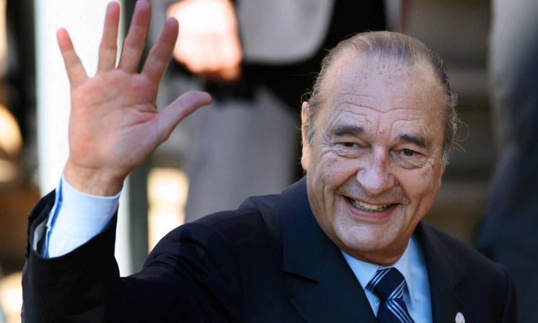 Ex-presidente Jacques Chirac morreu nesta quinta-feira, aos 87 anos Foto: PATRICK KOVARIK / AFP / 15-02-2007