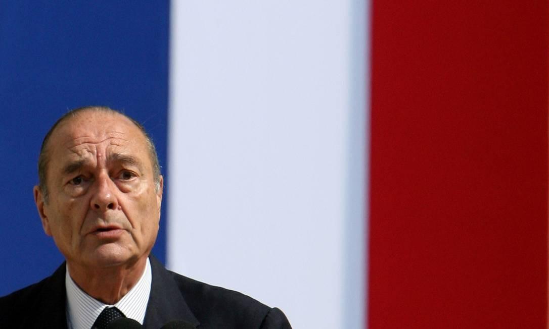 Morre o ex-presidente da França Jacques Chirac: ele liderou a França entre 1995 e 2007 Foto: Philippe Wojazer / REUTERS - 29/06/2006