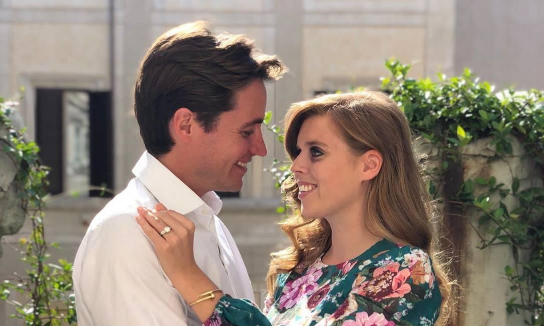 Beatrice e o noivo, o empresário Edoardo Mapelli Mozzi Foto: Reprodução/Instagram