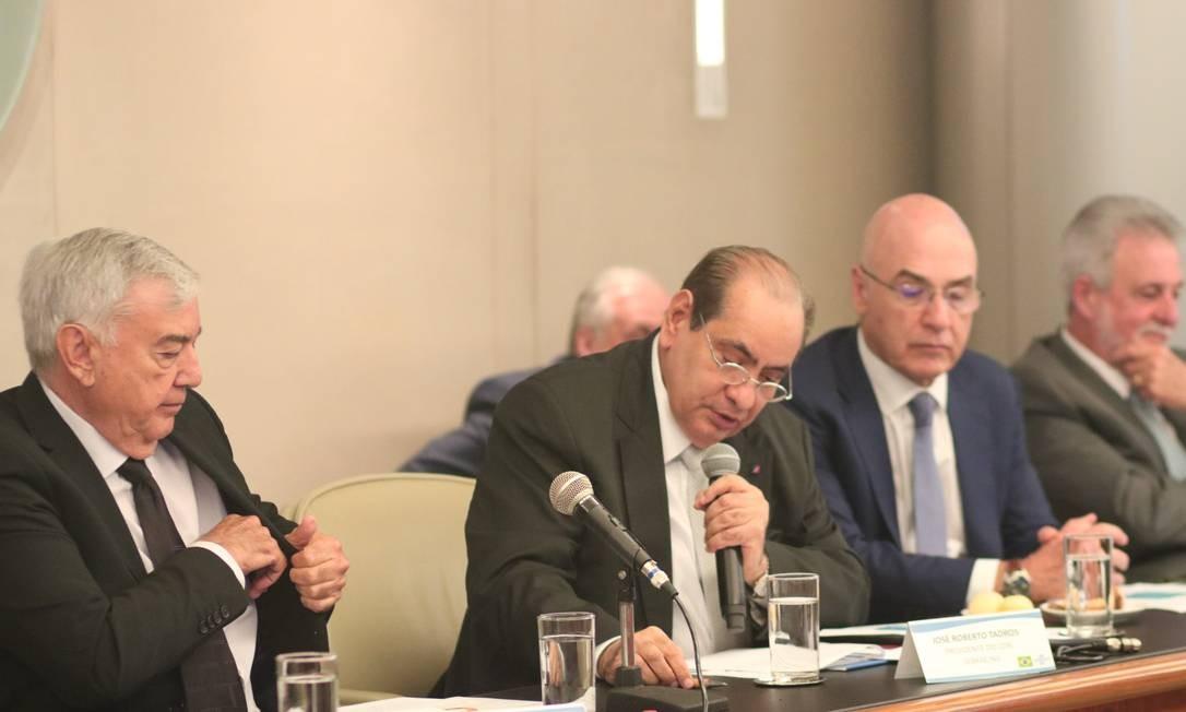 José Roberto Tadros em Reunião do CDN do Sebrae Foto: Divulgação