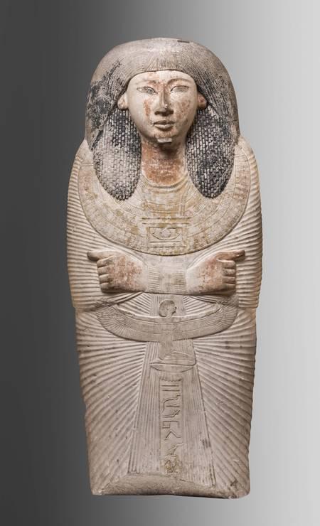 Fragmento de tampa de sarcófago Tebas, Novo Império, XIX Dinastia (1295-1186 a.C.) Foto: Divulgação/Museo Egizio