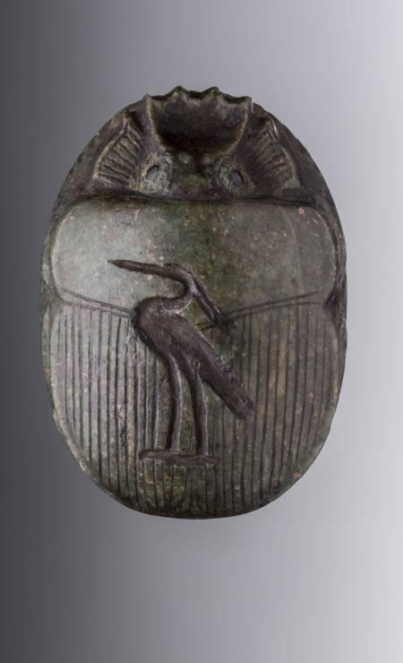 Escaravelho-coração de Nek. Procedência desconhecida, Período Tardio (664-332 a.C.). Foto: Divulgação/Museo Egizio
