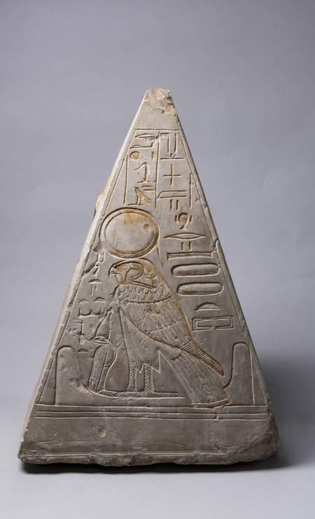 Piramídio de Khonsu. Deir el-Medina, XIX Dinastia (1295-1186 a.C.) Foto: Divulgação/Museo Egizio