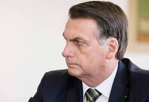 O presidente da República, Jair Bolsonaro Foto: Isac Nobrega/Agência O Globo