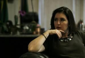 A senadora Simone Tebet (MDB-MS) 26/09/2019 Foto: Jorge William / Agência O Globo