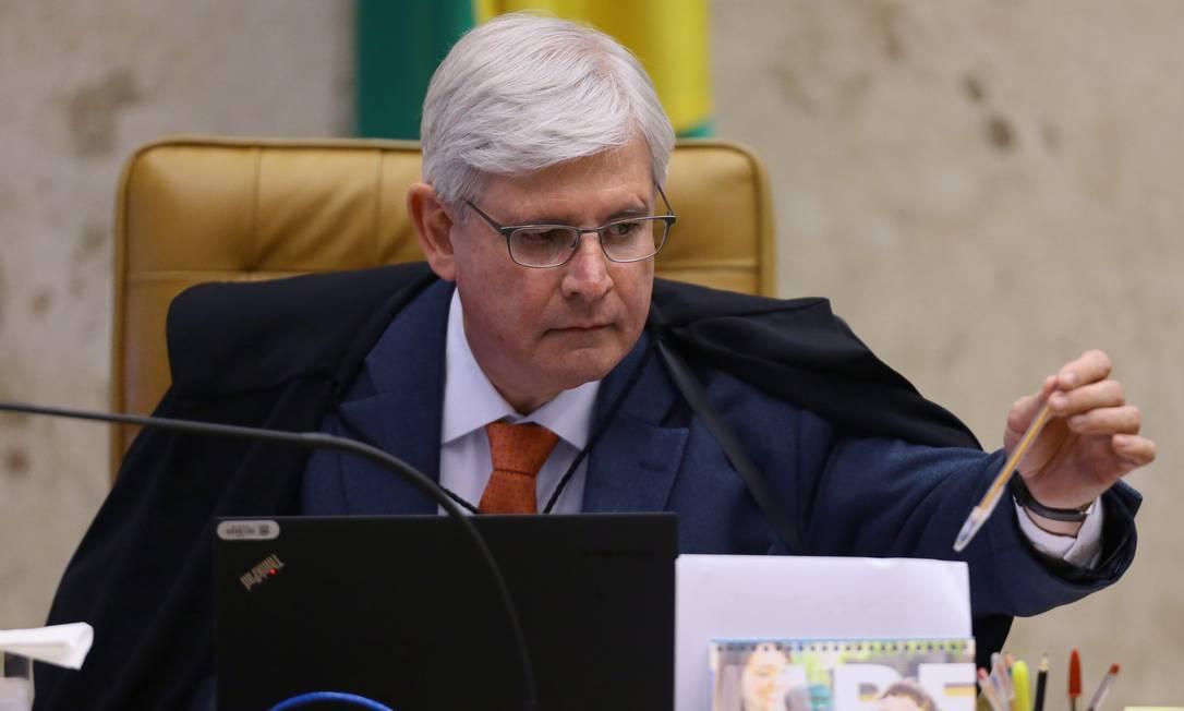 O ex-procurador-Geral da República Rodrigo Janot em sessão plenária do Supremo Tribunal Federal (STF) Foto: Jorge William / Agência O Globo - 14/09/2017