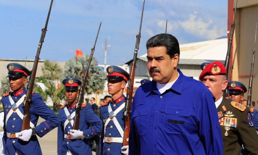 Presidente venezuelano Nicolás Maduro, retornando à Venezuela após viagem oficial para a Rússia Foto: HO / AFP / 26-09-2019
