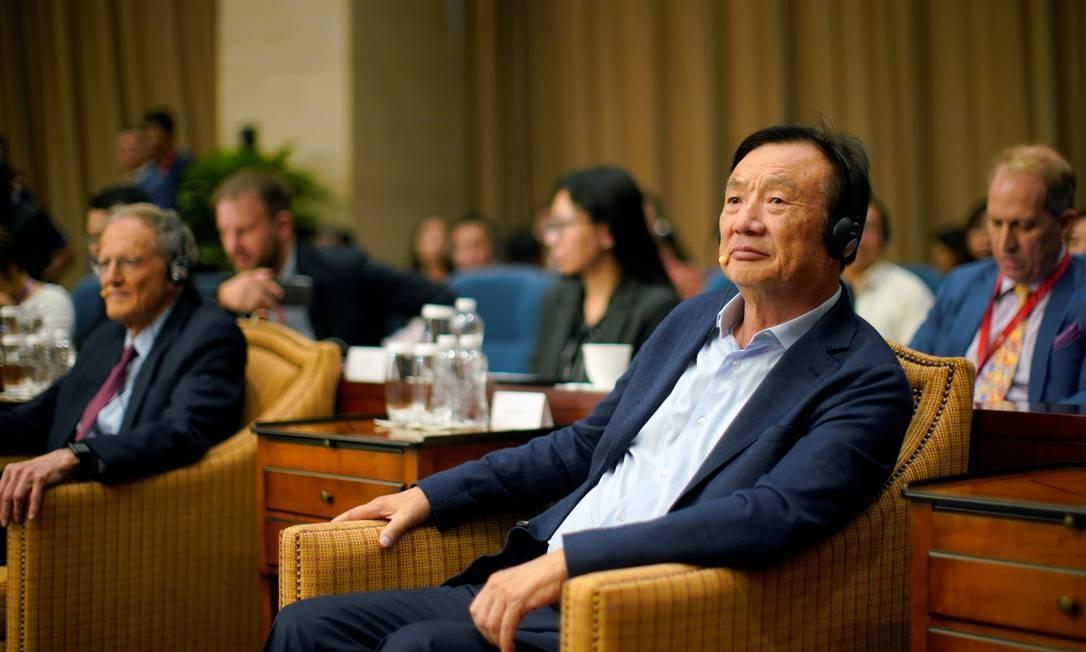 O fundador da Huawei, Ren Zhengfei, prevê que a produção de equipamentos 5G irá dobrar ano que vem Foto: Aly Song / REUTERS
