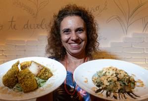Jacqueline Oliveira. A chef do Veg Up também dá palestras e cursos sobre alimentação saudável e vegana Foto: Roberto Moreyra