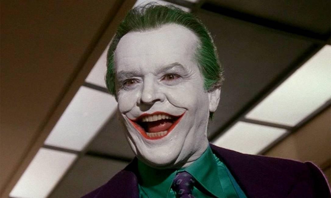 """Em atuação marcante, Jack Nicholson foi o Coringa de """"Batman"""", de 1989, dirigido por Tim Burton. Diferentemente do vilãode Romero, Nicholson apresentou uma versão mais violenta e bem debochada Foto: Reprodução"""