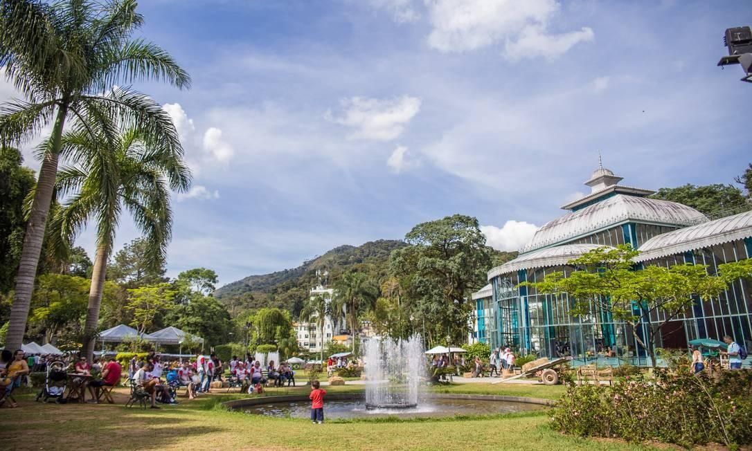 Palácio de Cristal, em Petrópolis, onde acontece a edição de 2019 do Festival AgroSerra Imperial Foto: Divulgação