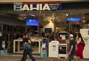 Loja das Casas Bahia no centro do Rio Foto: Gabriel Monteiro / Agência O Globo