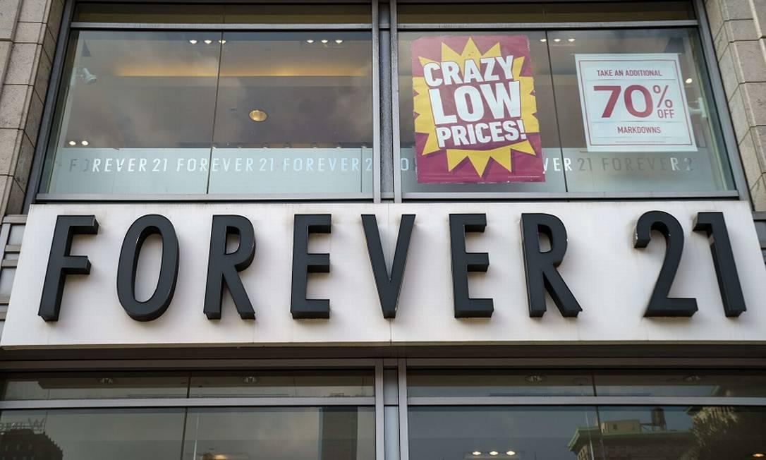 Forever 21 em Nova York. Foto: Drew Angerer / AFP