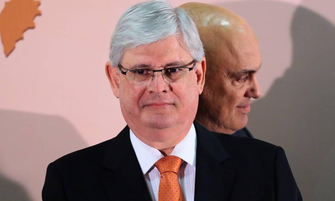 O ex-procurador-geral da República Rodrigo Janot e o ministro Alexandre de Moraes Foto: Jorge William / Agência O Globo 19-06-2017