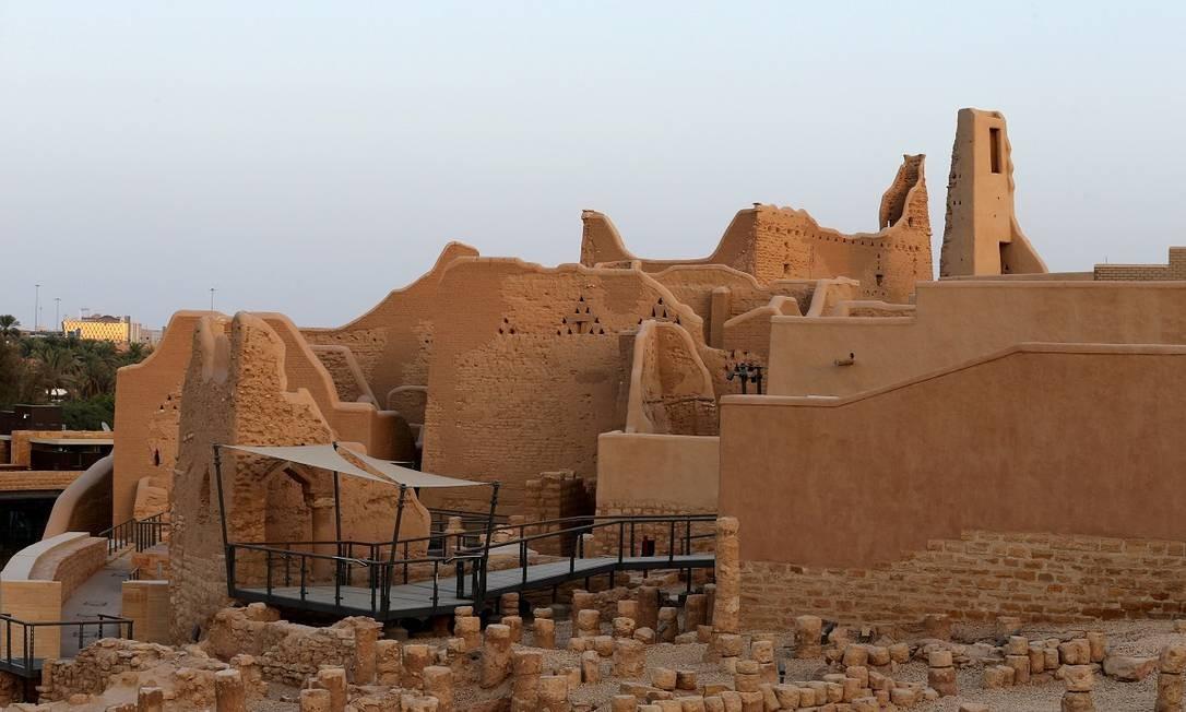 Construções históricas da cidadela de Al-Diriyah, patrimônio da humanidade da Unesco, nos arredores de Riad Foto: REUTERS