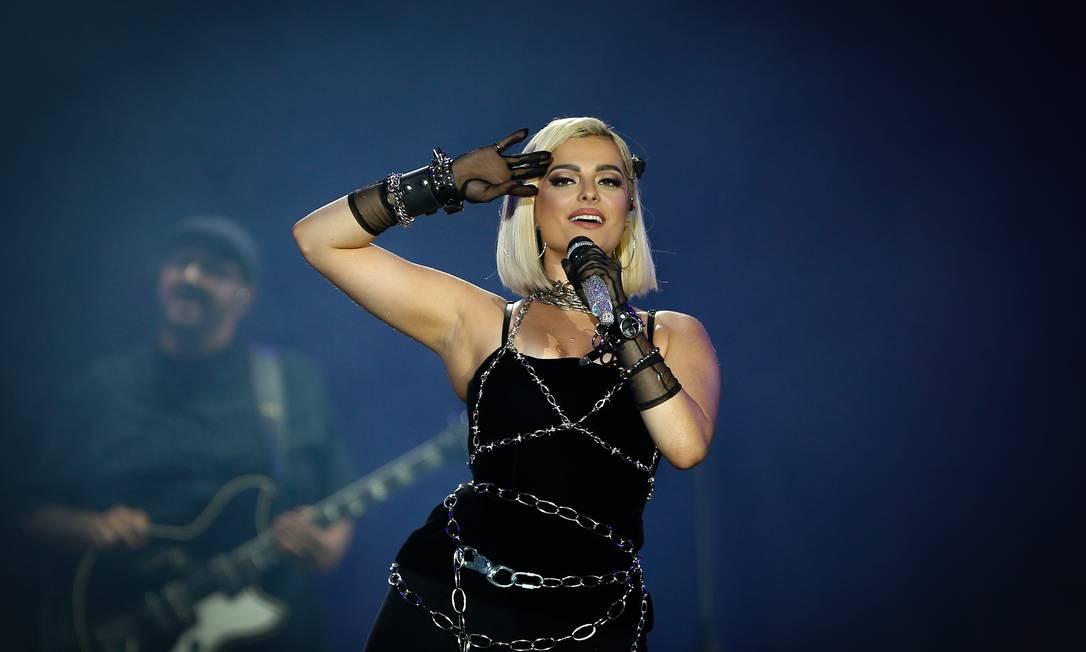 Bebe Rexha se apresenta no Palco Mundo no primeiro dia do Rock in Rio 2019 Foto: Pablo Jacob / Agência O Globo
