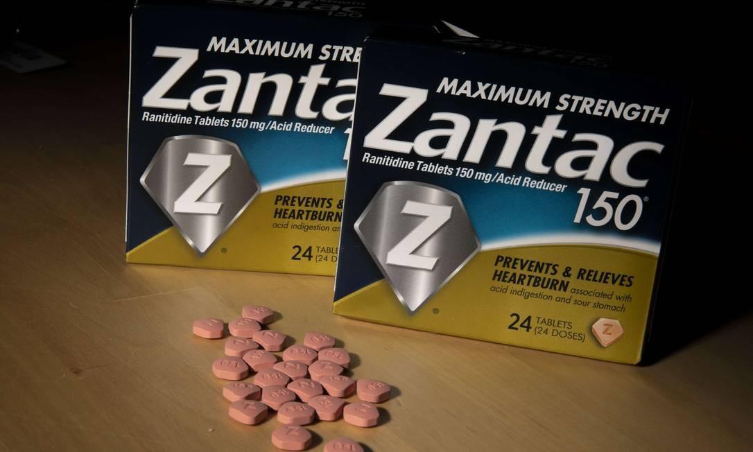 Remédio americano à base de ranitidina: substância fabricada por companhia indiana teve sua venda suspensa no Brasil pela Anvisa Foto: Drew Angerer / AFP