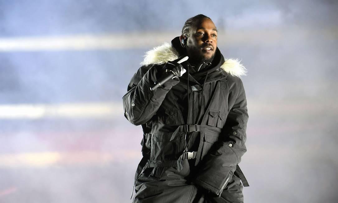 Norte-americano Kendrick Lamar foi um dos que não autorizou transmissão de show no Brasil Foto: Paras Griffin / AFP