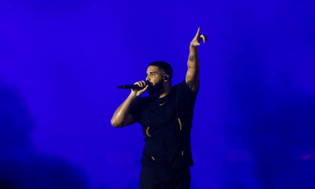 Drake em show no Rock in Rio Foto: Reprodução da internet