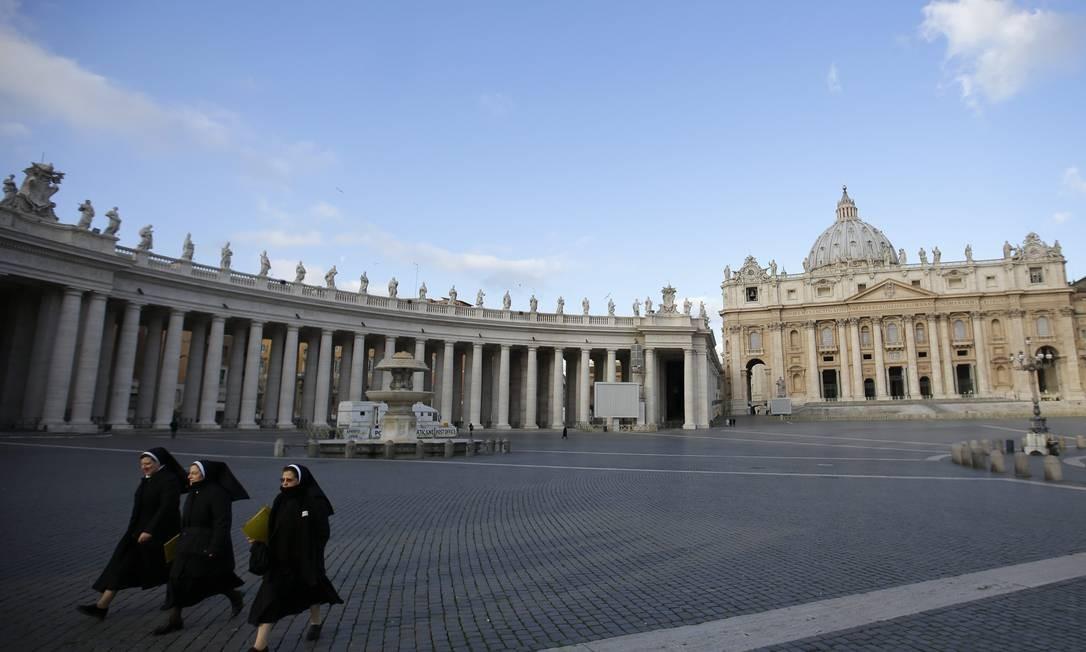 Praça de São Paulo, no Vaticano Foto: Max Rossi / Reuters