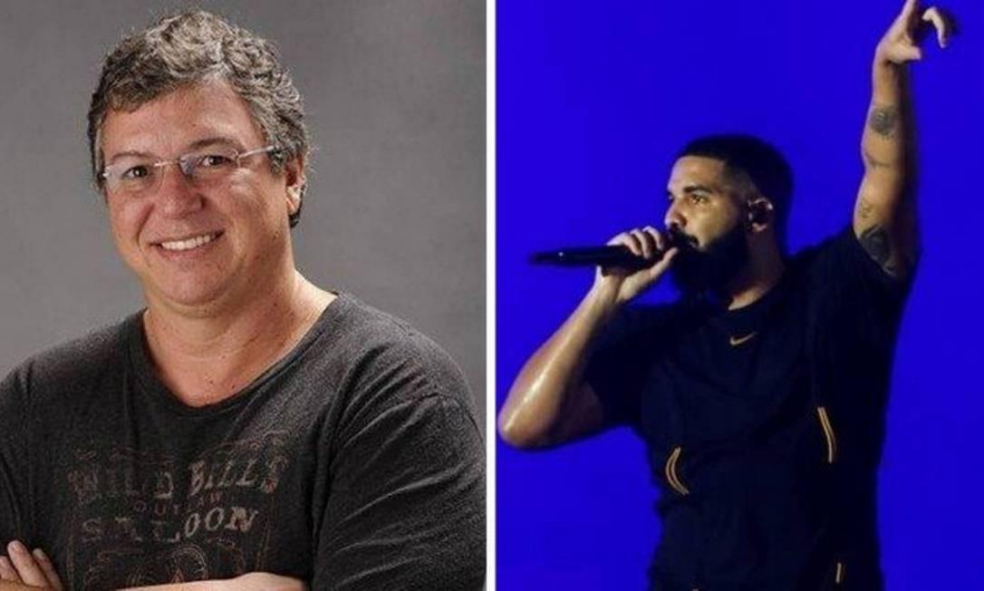 Boninho e Drake: polêmica no Twitter Foto: Divulgação